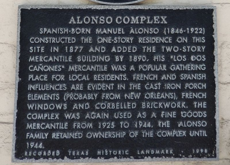 Alonso Complex Marker image. Click for full size.