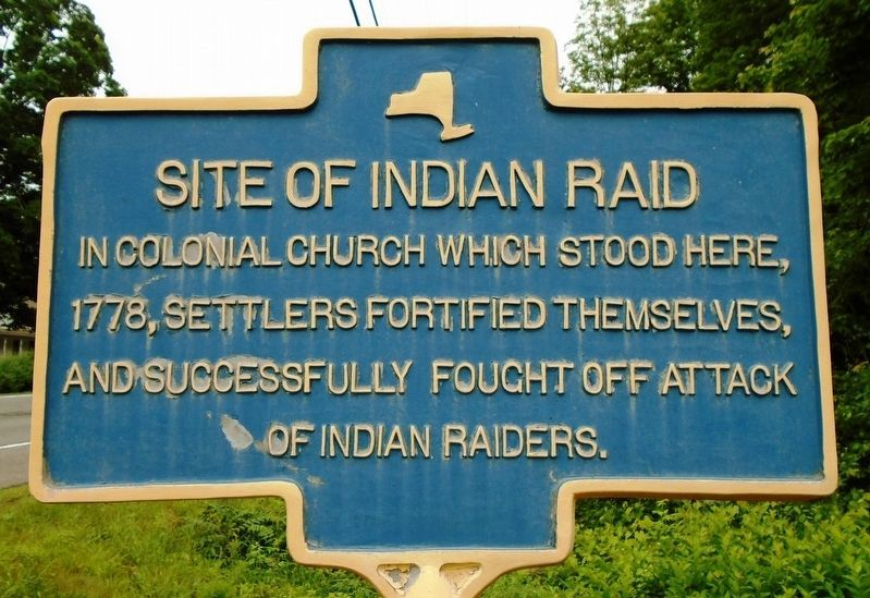 Site of Indian Raid Marker image. Click for full size.