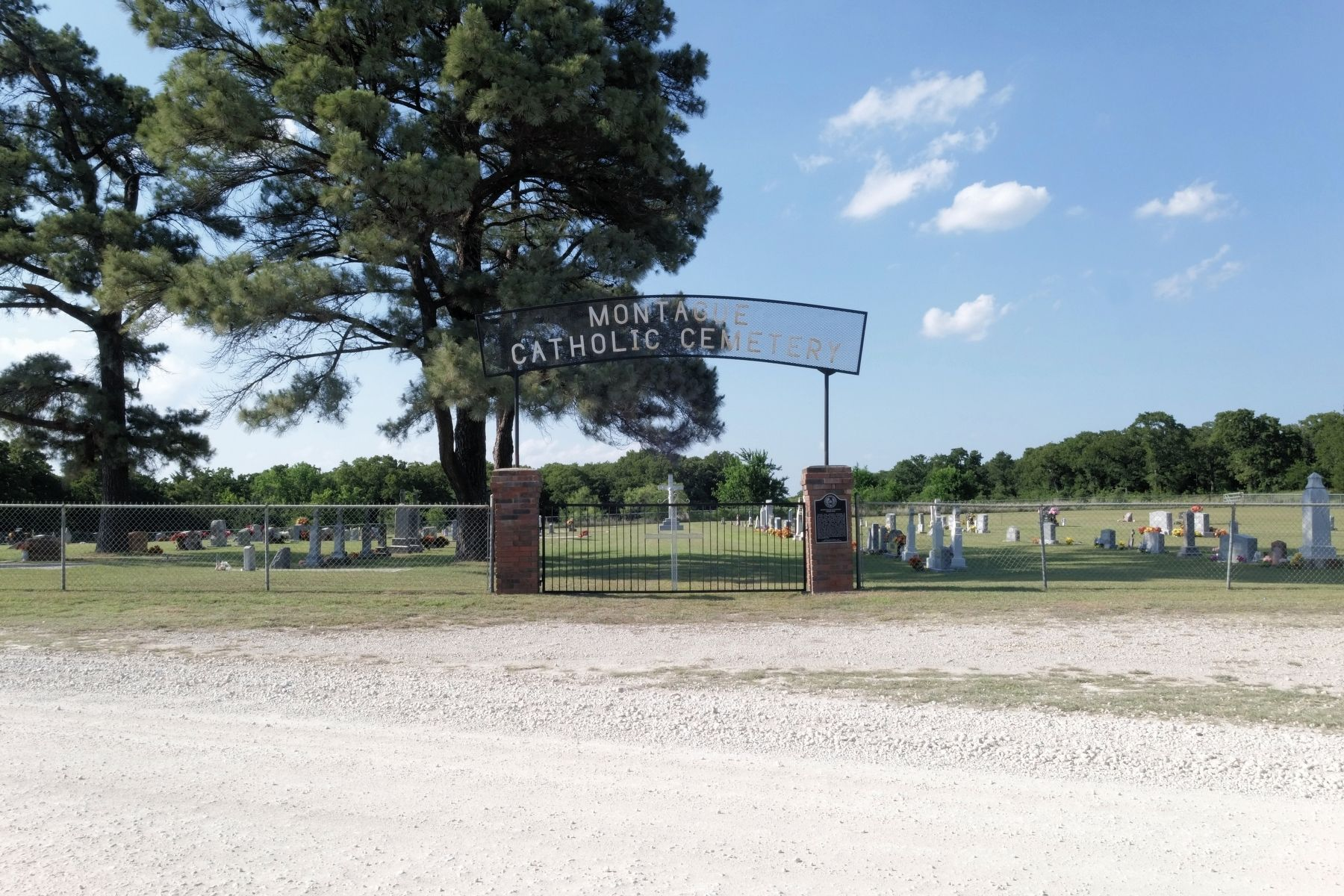 Montague Catholic Cemetery with Marker image. Click for full size.
