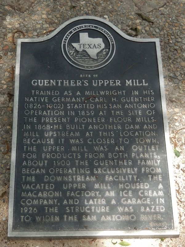 Site of Guenther's Upper Mill Marker image. Click for full size.
