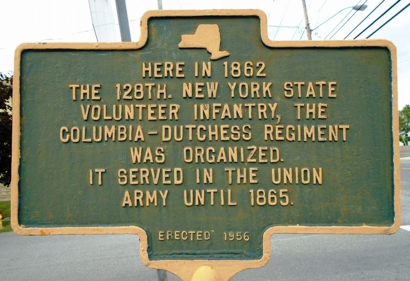 128th New York State Volunteer Infantry Marker image. Click for full size.
