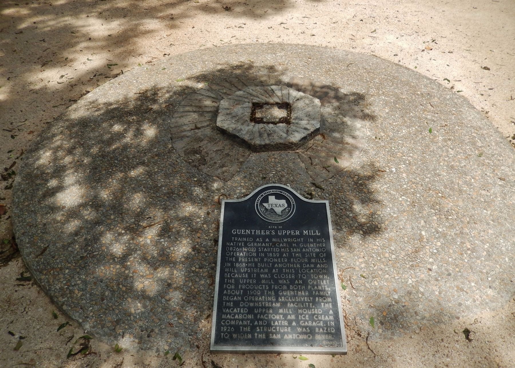 Site of Guenther&#39;s Upper Mill Marker (<i>wide view</i>) image. Click for full size.
