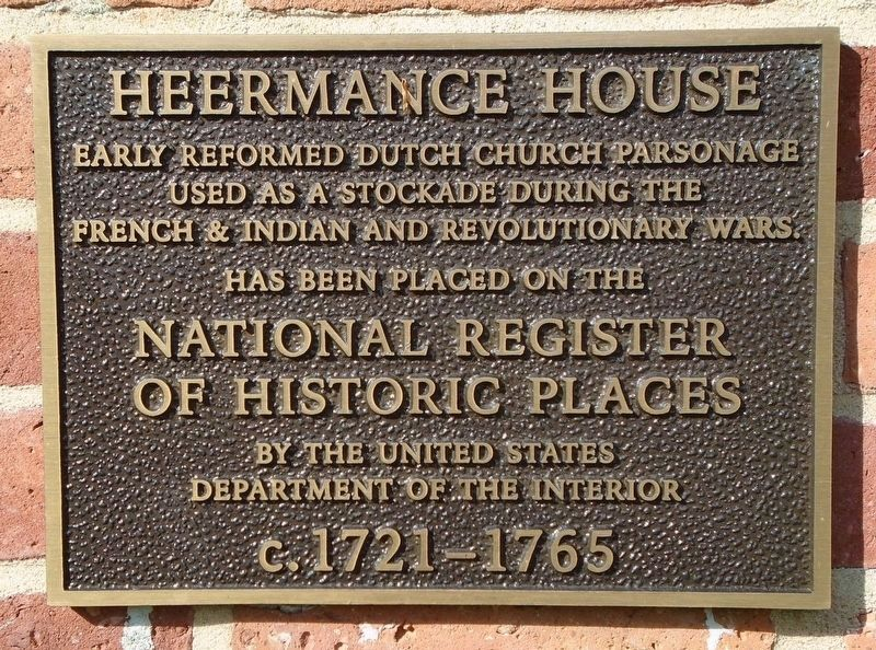 Heermance House NRHP Marker image. Click for full size.