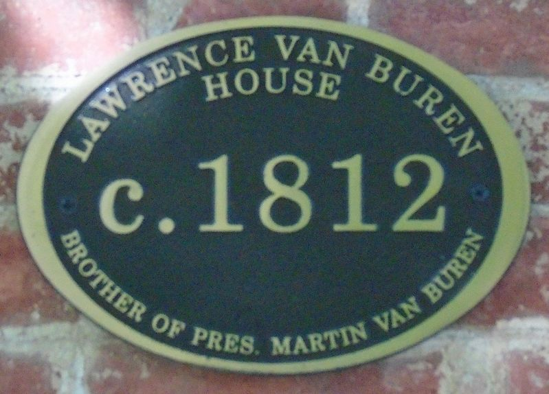 Lawrence Van Buren House Marker image. Click for full size.