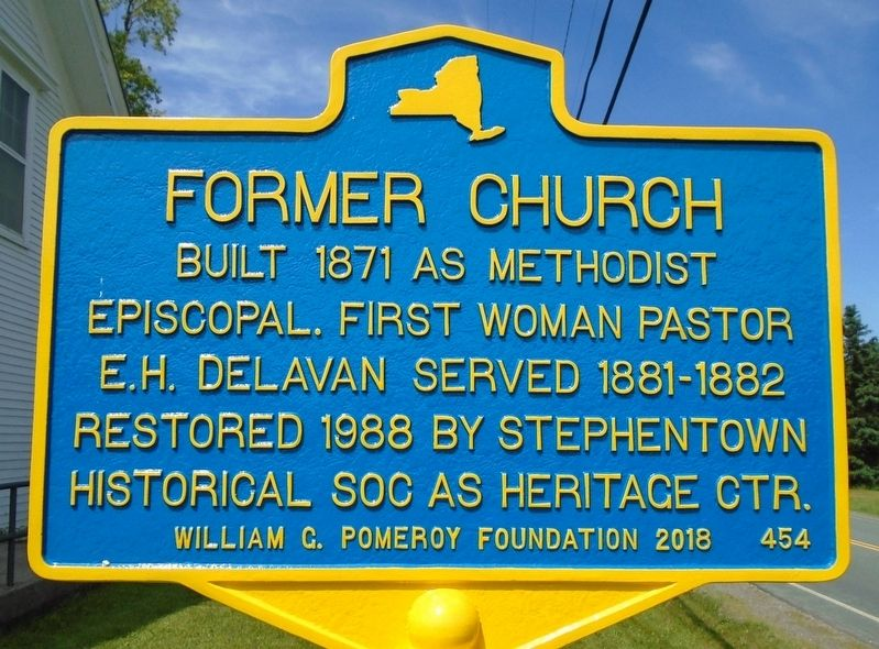 Former Church Marker image. Click for full size.
