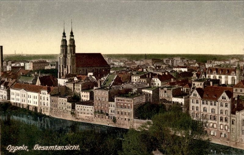 General overview of Opole, showing the Holy Cross Cathredral image. Click for full size.