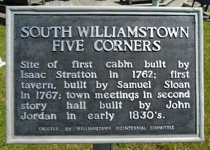 South Williamstown Five Corners Marker image. Click for full size.
