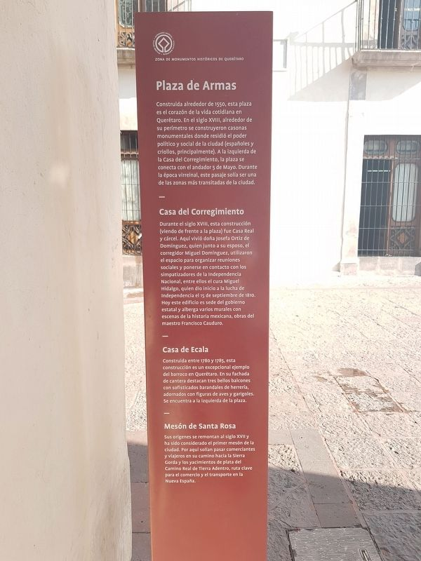 Plaza de Armas Marker image. Click for full size.