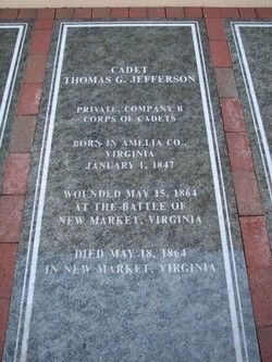 Thomas Garland Jefferson's Gravestone at VMI image. Click for full size.