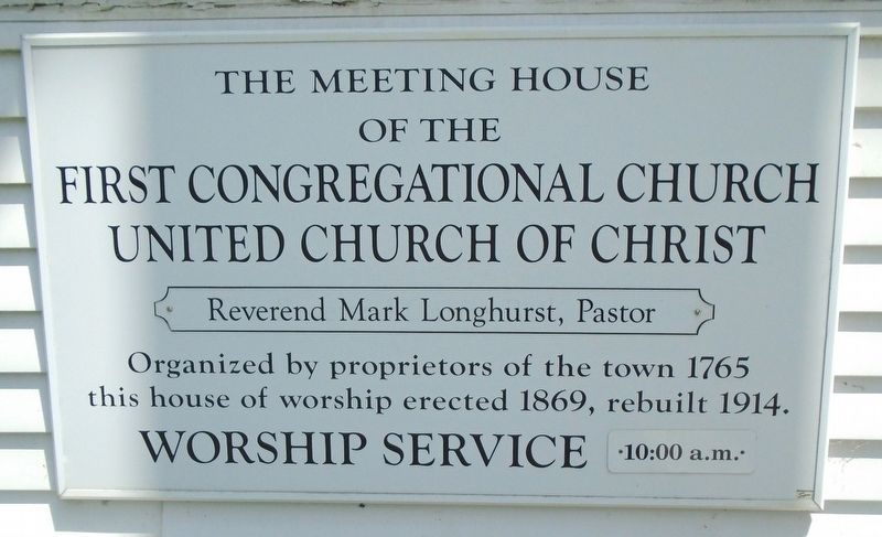 The Meeting House of the First Congregational Church UCC Marker image. Click for full size.