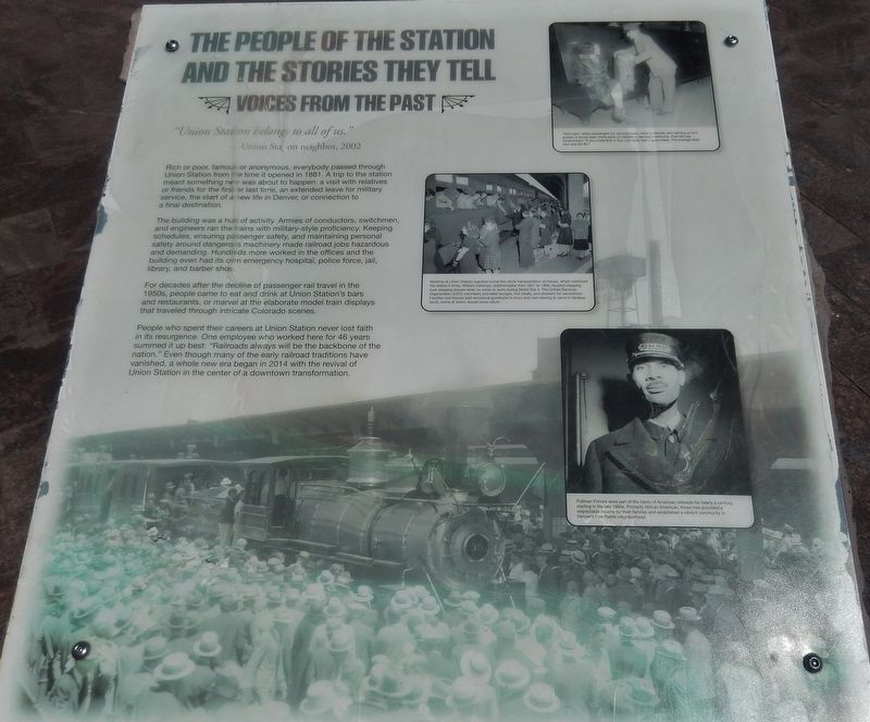 The People of the Station Marker image. Click for full size.