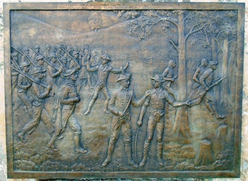 Berkshire County Patriots Bas-Relief image. Click for full size.