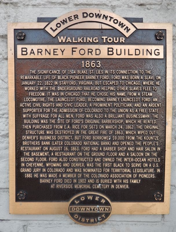 Barney Ford Building Marker image. Click for full size.