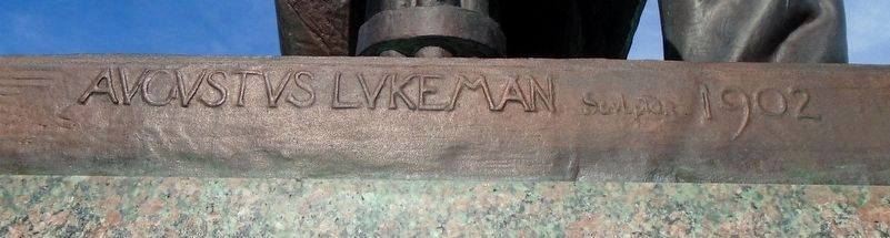 William McKinley Statue Sculptor's Mark image. Click for full size.