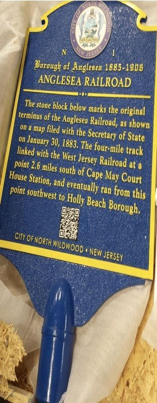 Anglesea Railroad Marker image. Click for full size.