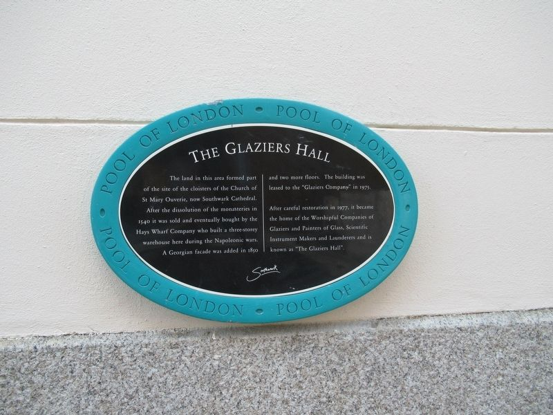 The Glaziers Hall Marker image. Click for full size.