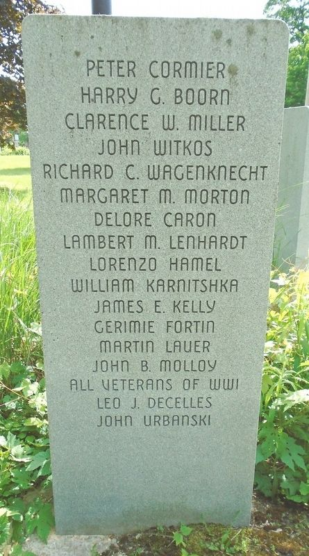 Columbia World War I Memorial Park Honored Dead Marker image. Click for full size.