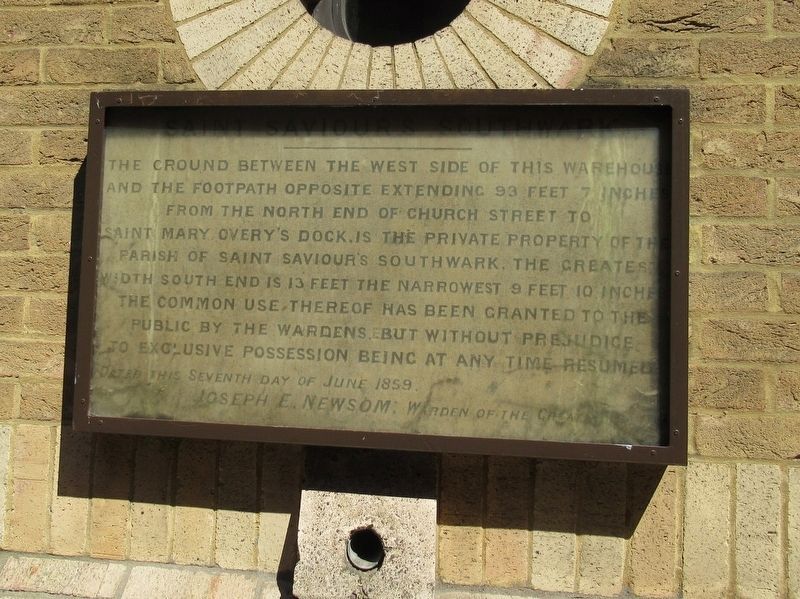 St. Saviour's Southwark Private Property Marker image. Click for full size.