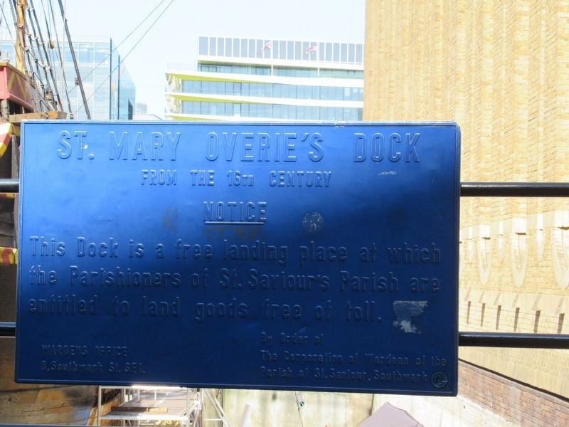 St. Mary Overie's Dock Marker image. Click for full size.