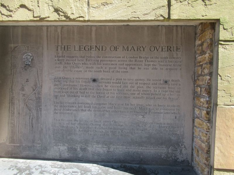 The Legend of Mary Overie Marker image. Click for full size.