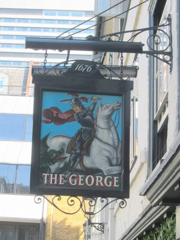 The George Inn Sign image. Click for full size.
