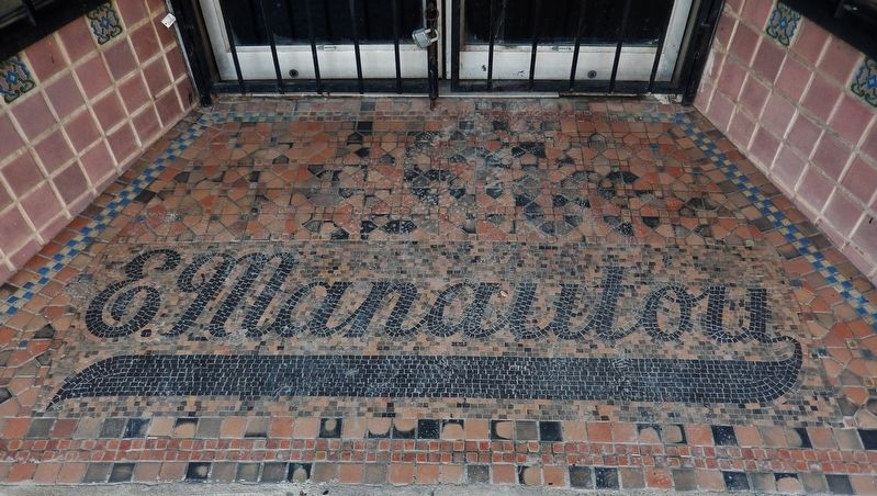 Manautou Building (<i>decorative tile entrance</i>) image. Click for full size.