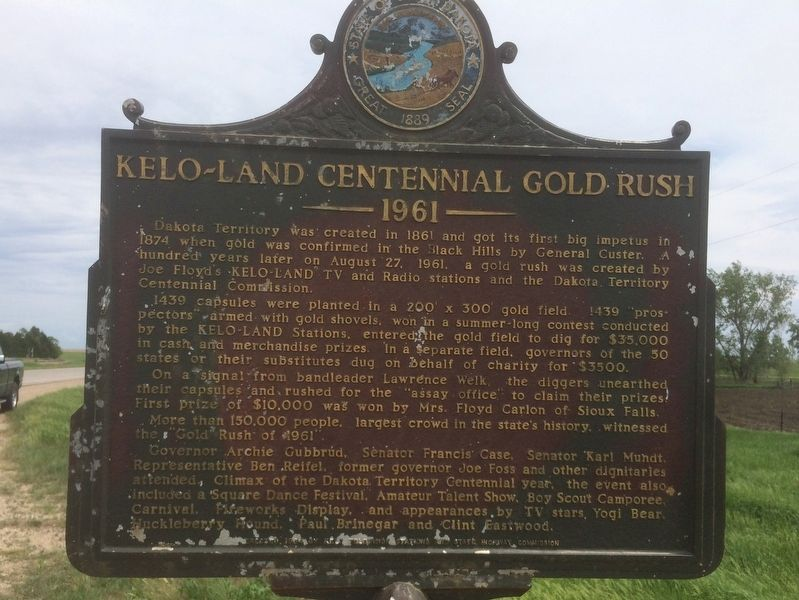 KELO-Land Centennial Gold Rush Marker image. Click for full size.