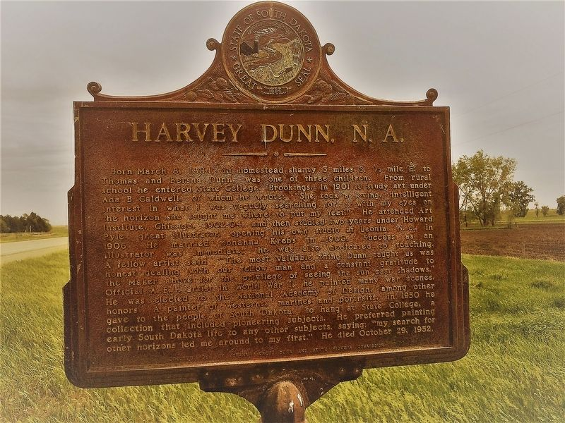 Harvey Dunn, N.A. Marker image. Click for full size.