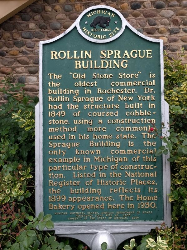 Rollin Sprague Building Marker image. Click for full size.