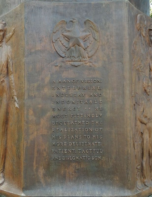 Moses Austin Monument (<i>panel 4</i>) image. Click for full size.