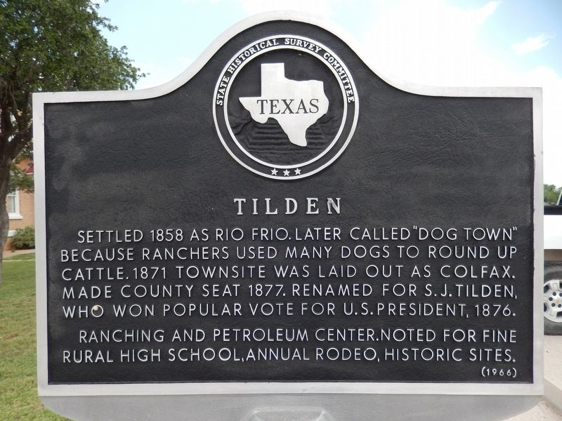 Tilden Marker image. Click for full size.