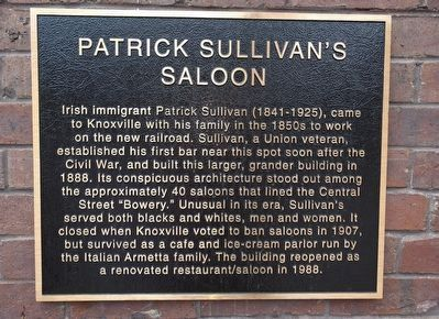 Patrick Sullivan's Saloon Marker image. Click for full size.