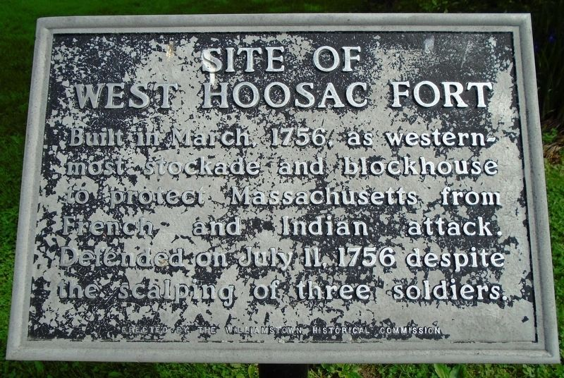 Site of West Hoosac Fort Marker image. Click for full size.