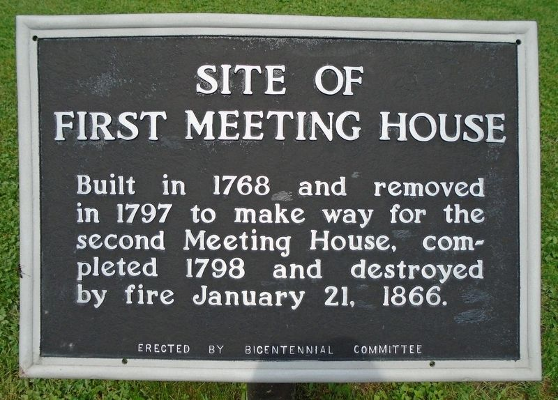 Site of First Meeting House Marker image. Click for full size.