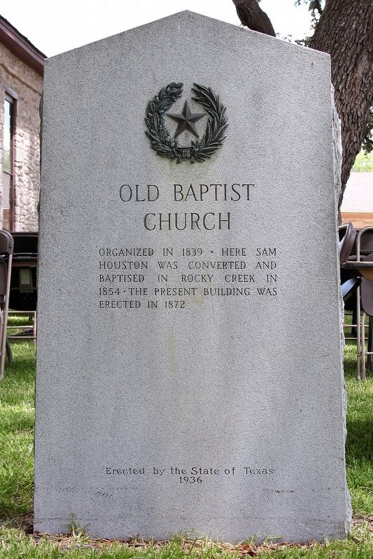 Old Baptist Church Marker image. Click for full size.