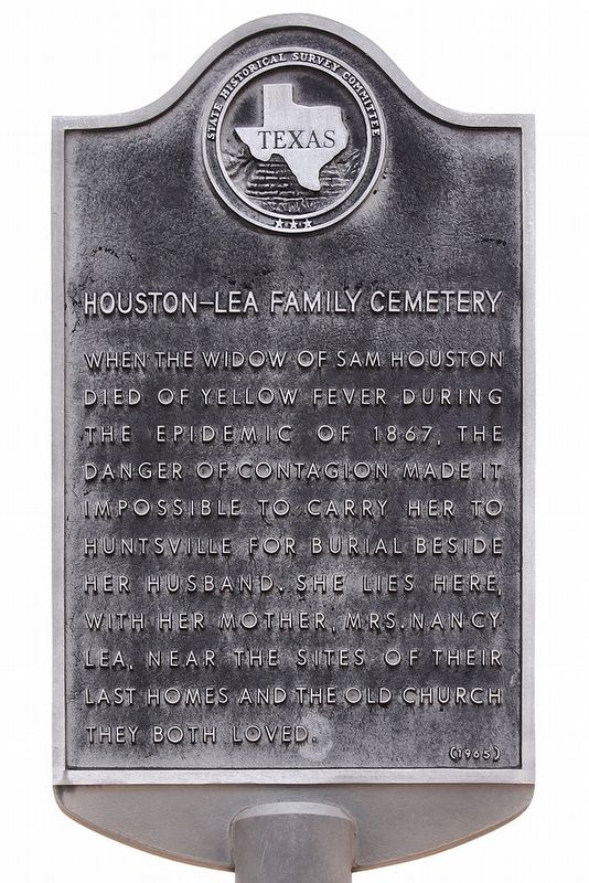Houston-Lea Family Cemetery Marker image. Click for full size.