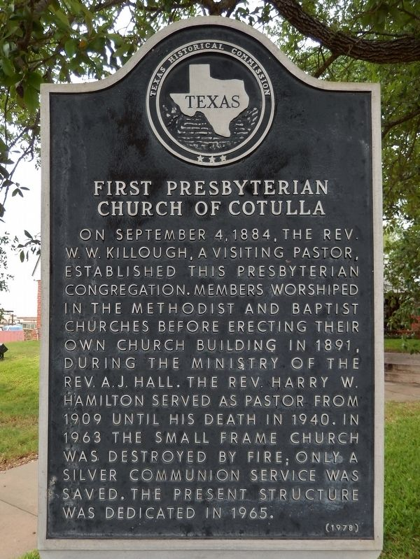 First Presbyterian Church of Cotulla Marker image. Click for full size.