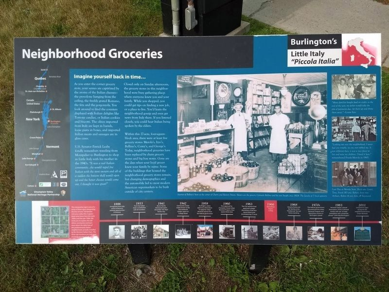 Neighborhood Groceries Marker image. Click for full size.