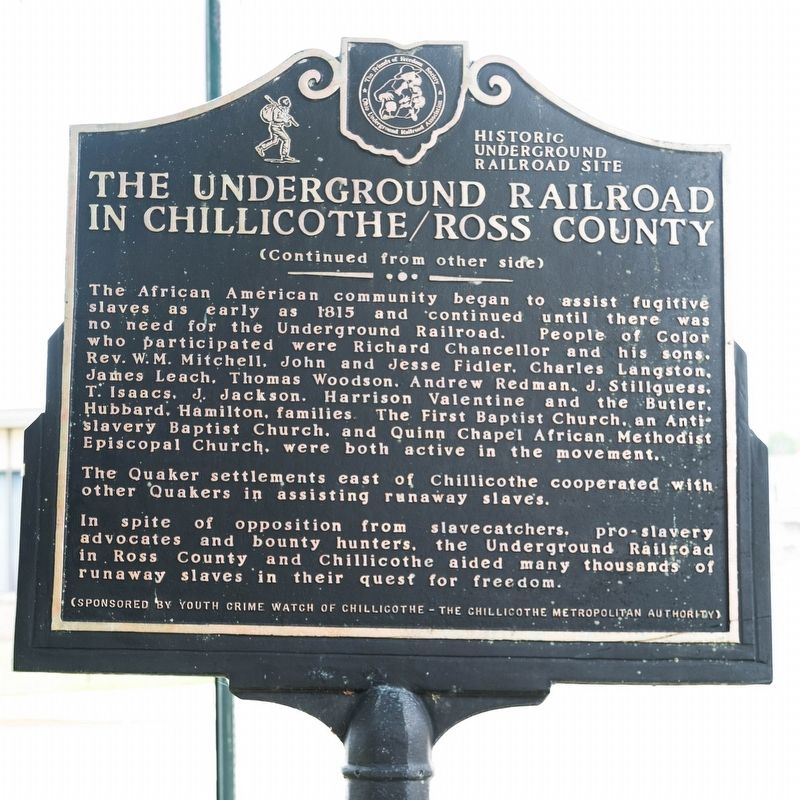 The Underground Railroad Marker, Side Two image. Click for full size.
