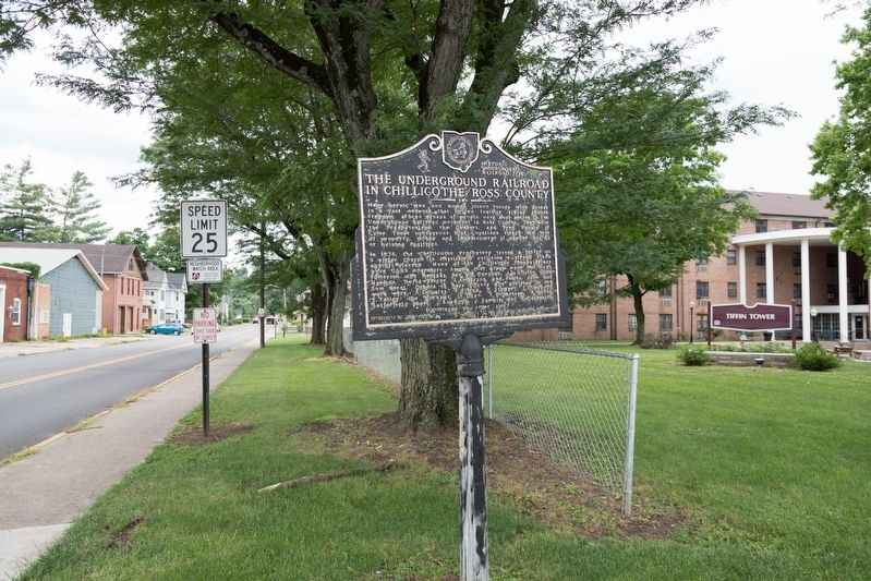 The Underground Railroad in Chillicothe/Ross County Marker image. Click for full size.