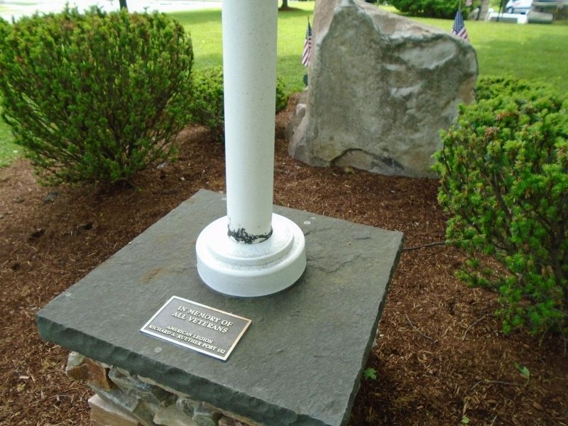 Veterans Memorial Marker and Flag Pole image. Click for full size.