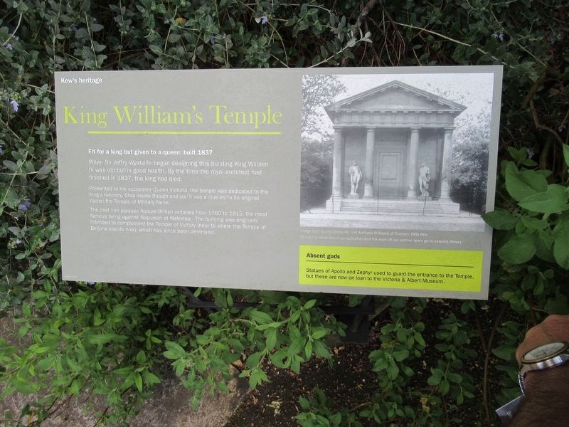 King William's Temple Marker image. Click for full size.