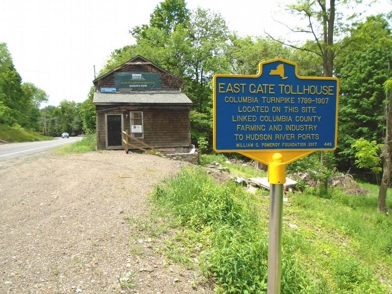 East Gate Tollhouse and Marker image. Click for full size.