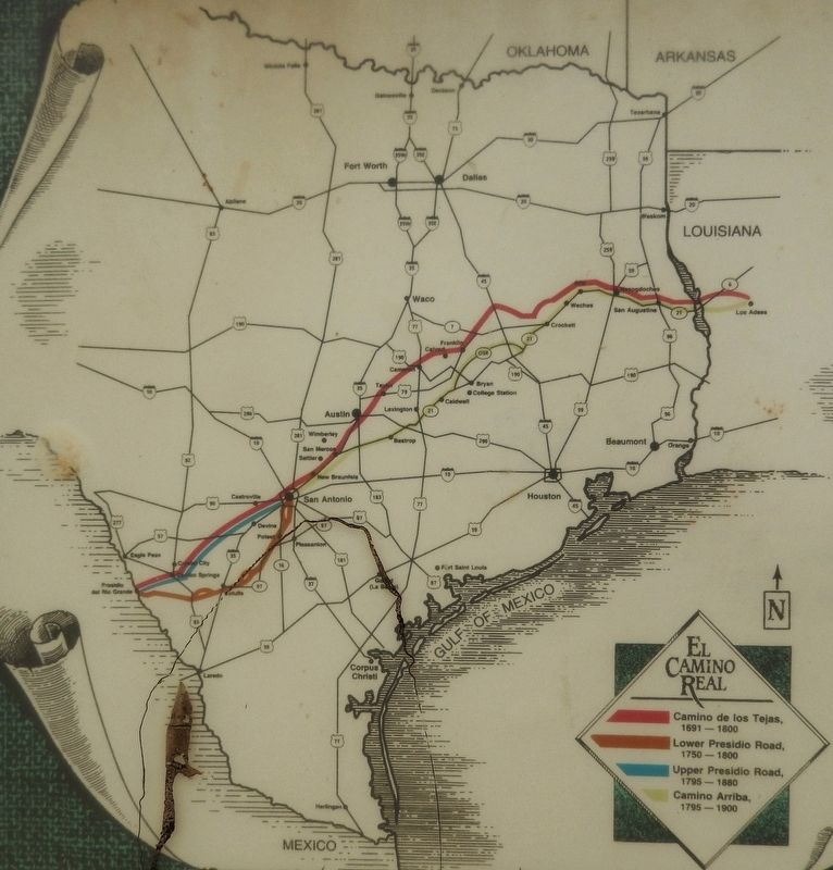 The Old San Antonio Road (<i>map detail</i>) image. Click for full size.