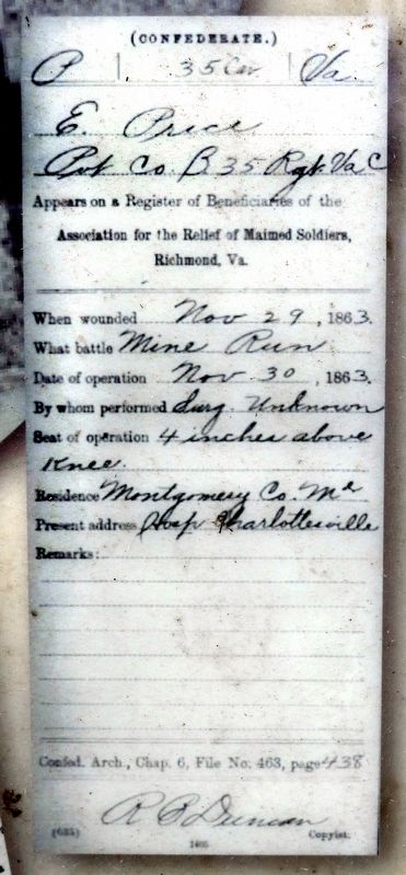 Elias Price's Medical Record image. Click for full size.