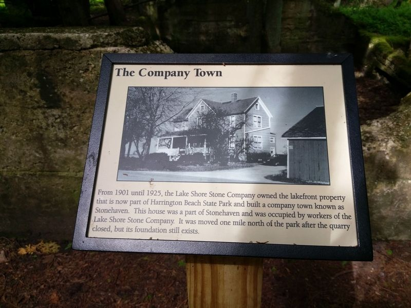 The Company Town Marker image. Click for full size.