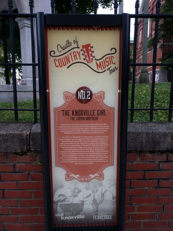 The Knoxville Girl Marker image. Click for full size.