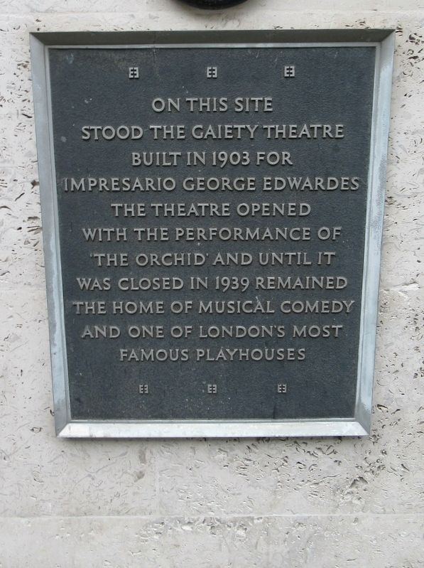 Gaiety Theatre Marker image. Click for full size.