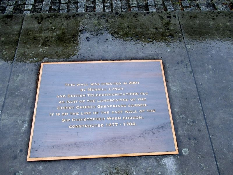 Christchurch Greyfriars Marker on the Wall image. Click for full size.