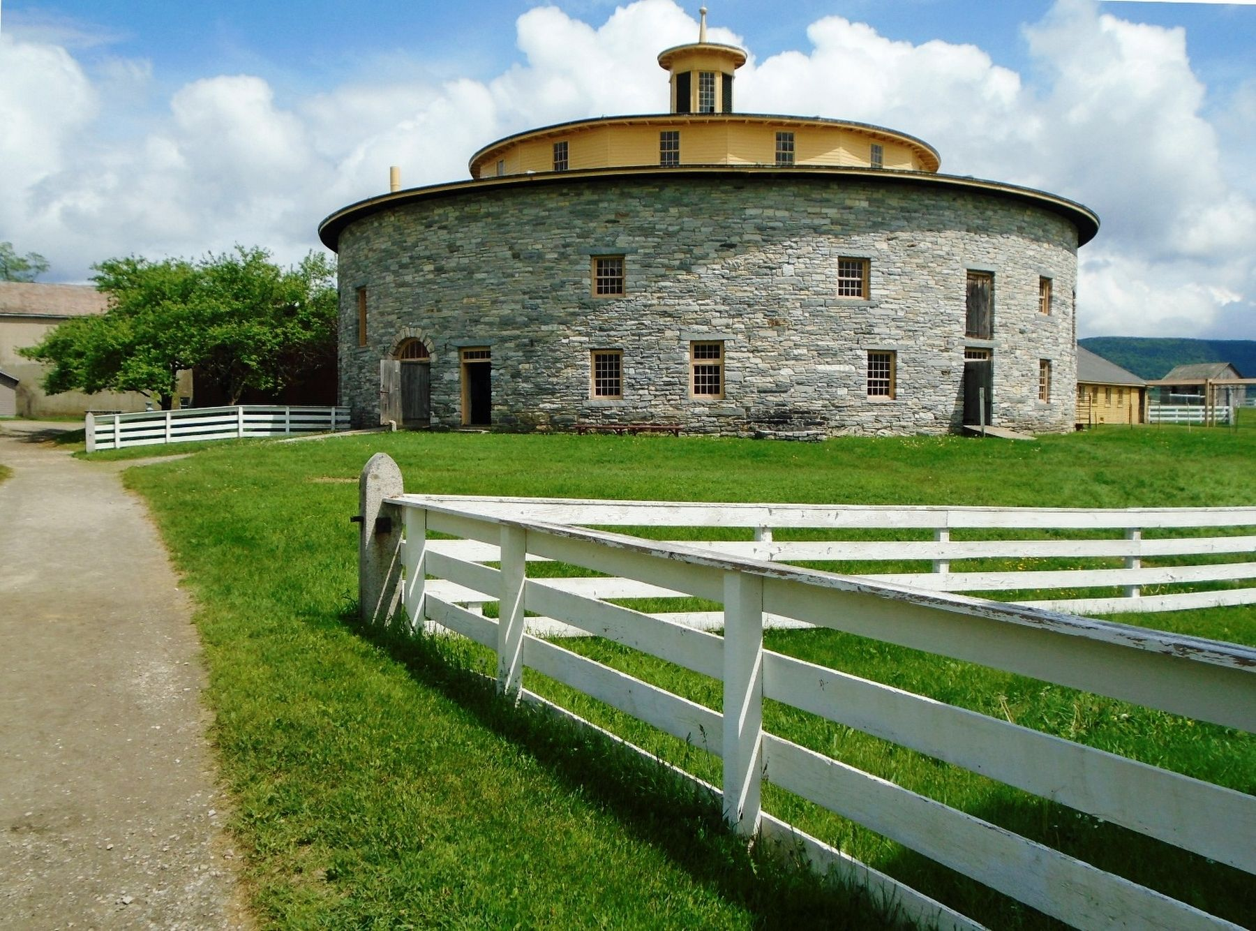 Hancock Shaker Village Round Stone Barn image. Click for full size.